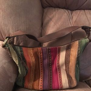Suede Leather Fossil Purse